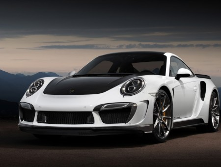 White And Black Porsche Carrera