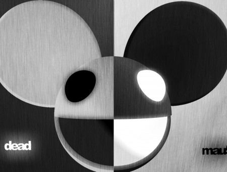 Gray White And Black Dead Mau5 Illustration