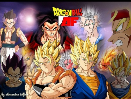 Son Goku Vegeta And Gogeta Of Dragon Ball