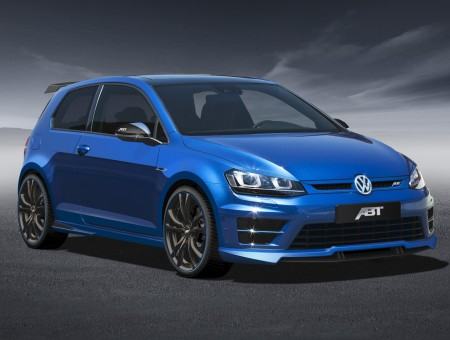 Blue Volkswagen Abt On Road