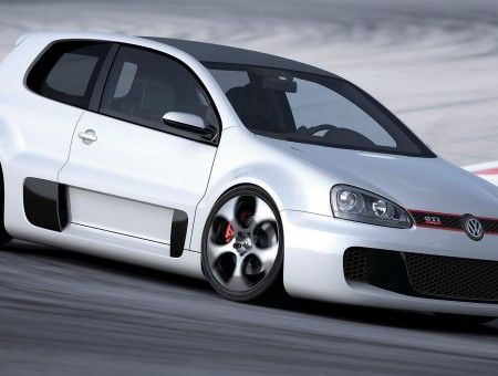 White Volkswagen Car