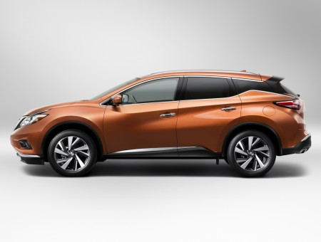 Orange Nissan SUV
