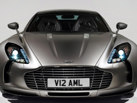Grey Aston Martin One 77