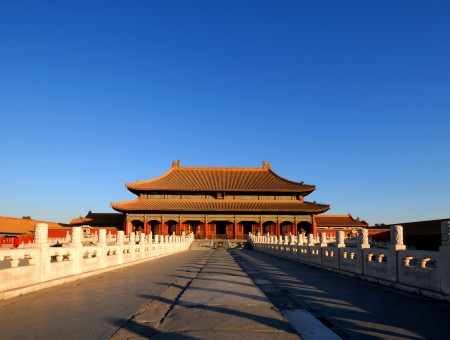 Blue Sky Above The Forbidden City In China During Daytime