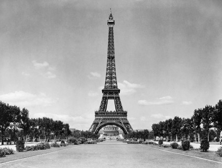 Eiffel Tower During Daytime In Grayscale