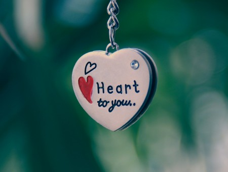 Close Photography Of White Black Heart To You Pendant Silver Necklace