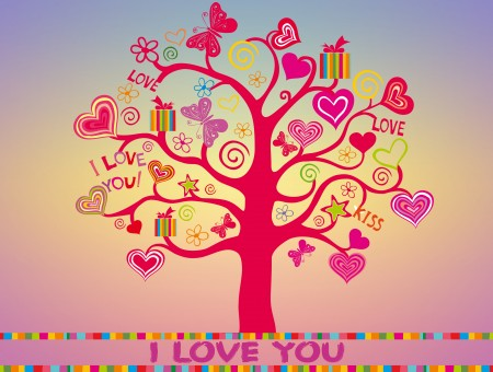Red Ilove You Tree