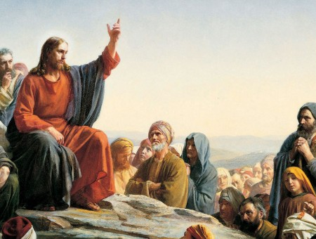 Jesus Christ Talking To Disciples Painting