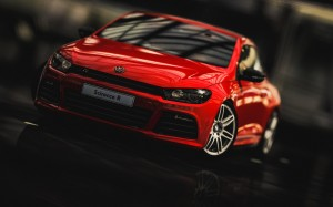 Desktop Wallpaper: Red Volkswagen Sciro...