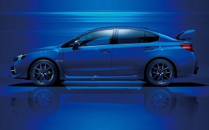 Desktop Wallpaper: Blue Sedan On Concre...