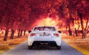 Desktop Wallpaper: White Subaru BRZ On ...