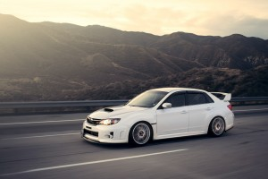 Desktop Wallpaper: White Subaru WRX On ...