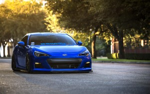 Desktop Wallpaper: Blue Sports Car With...