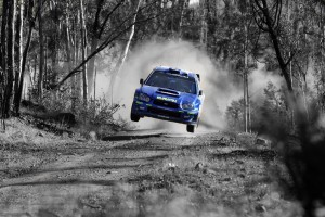 Desktop Wallpaper: Blue Subaru WRX Rall...