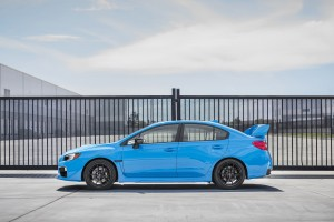 Desktop Wallpaper: Blue Subaru WRX Impr...
