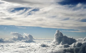 Desktop Wallpaper: White Cloudy Sky Ove...