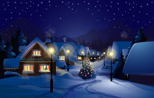 Desktop Wallpaper: Snow Covered Houses ...