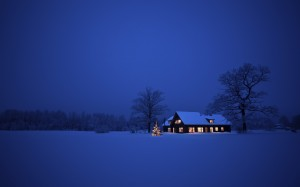 Desktop Wallpaper: Snow Covered House L...