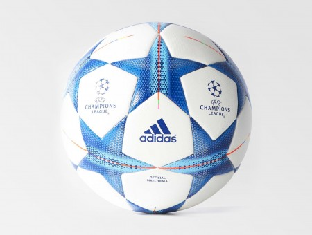 Blue And White Adidas Soccer Ball