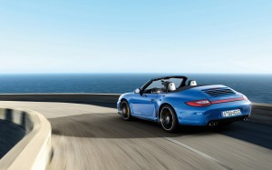 Desktop Wallpaper: Blue Porsche Boxster...