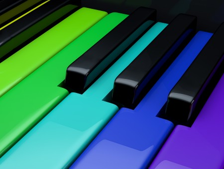 Multi Colored Piano Keys
