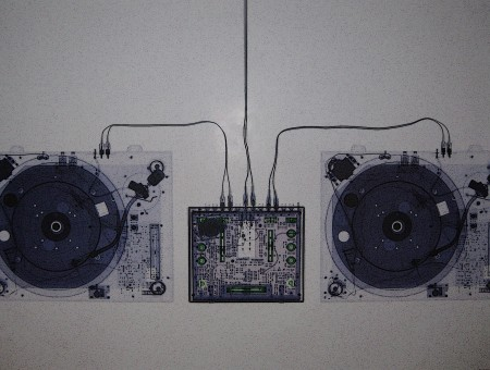 Amplifier And Speaker Illustration