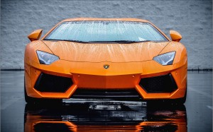 Desktop Wallpaper: Orange Lamborghini S...