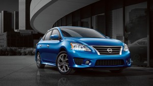 Desktop Wallpaper: Blue Nissan Sedan