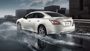 Desktop Wallpaper: White Nissan Maxima ...