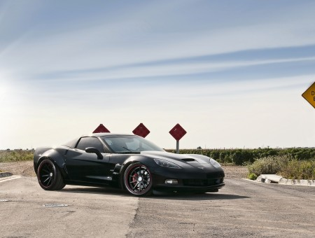 Black Chevrolet Corvette Stingray C7