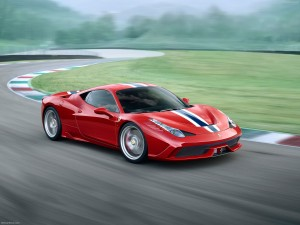 Desktop Wallpaper: Red Ferrari 458 Spec...