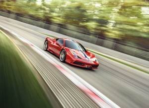 Desktop Wallpaper: Red Ferrari 458 On T...