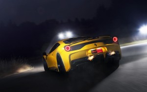 Desktop Wallpaper: Yellow Ferrari Sport...