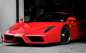 Desktop Wallpaper: Parked Red Ferrari E...