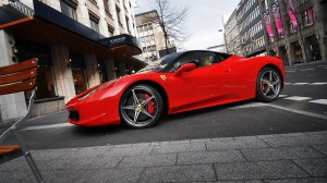 Desktop Wallpaper: Red Ferrari 458 Ital...