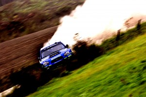 Desktop Wallpaper: Blue Subaru WRX On D...