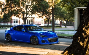 Desktop Wallpaper: Blue Subaru BRZ Team...