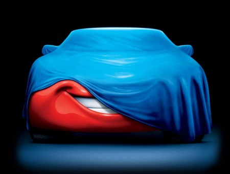 Lightning Mcqueen Cover With Blue Textile