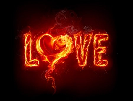 Love Flame Graphic Art