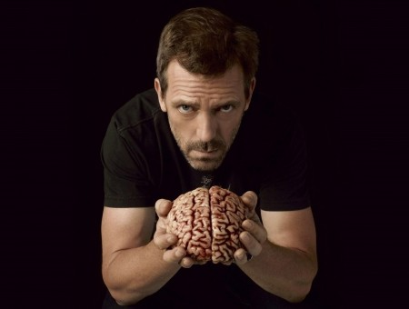 House Tv Character Holding Brain