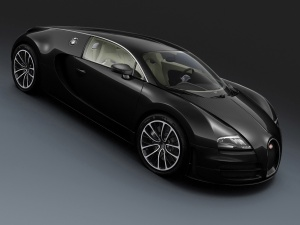 Desktop Wallpaper: Black Bugatti Veyron