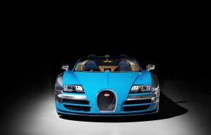 Desktop Wallpaper: Blue Bugatti Veyron