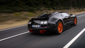 Desktop Wallpaper: Black Orange Bugatti...