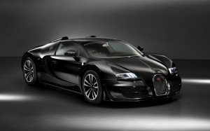 Desktop Wallpaper: Black Bugatti Veyron...