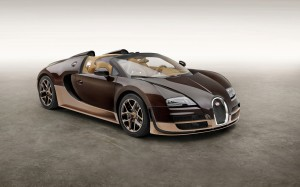 Desktop Wallpaper: Brown Bugatti Veyron