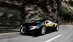 Desktop Wallpaper: Black Sports Car Tra...