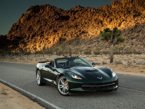 Desktop Wallpaper: Black Corvette Sting...