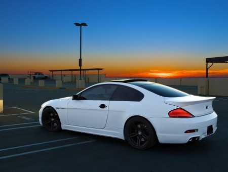 White BMW 6 Series