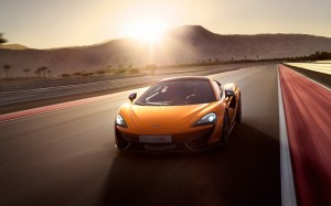 Desktop Wallpaper: Orange Sports Car On...