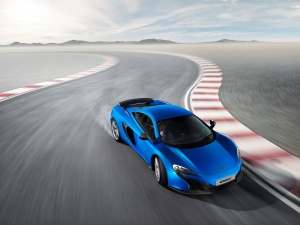 Desktop Wallpaper: Blue Expensive Car R...